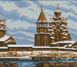 Деревянный храм зимой