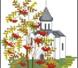 Церковь осень
