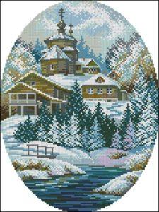 Церковь в овале (зима)