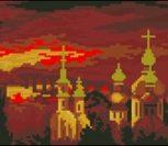 Закат и золотые купола