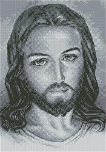 Иисус Христос (монохром в серых тонах)