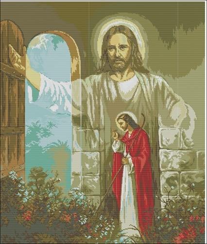 """Икона """"Иисус стучится в дверь"""""""
