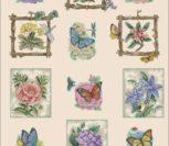 Сэмплер с бабочками и цветами