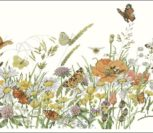 No34359 Flowers / Butterfly