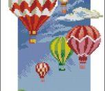 Вышивка воздушный шар крестиком