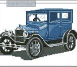 Вышивка ретро автомобиль Ford