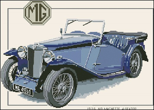 CMG115 - 1936 Magnette (backstitch)