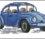 Синяя машина Ponto cruz