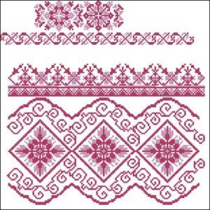 Схемы для вышивки крестом славянские узоры бордюры