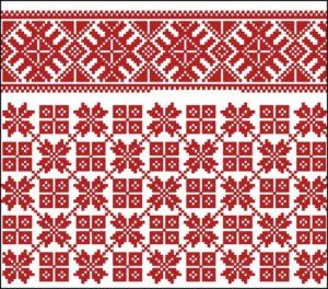 Красный норвежский узор орнамент иллюстрация