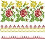 Орнамент с цветами для рушника