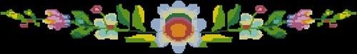 Планка с цветами на черном