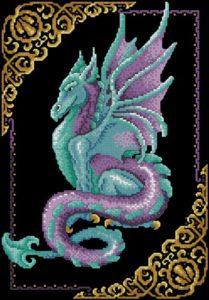 Нефритовый дракон на черном фоне