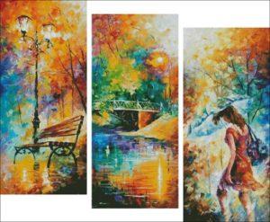 Триптих - Осенний парк