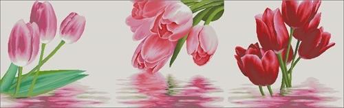 Триптих с тюльпанами