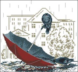 Грустный зонтик