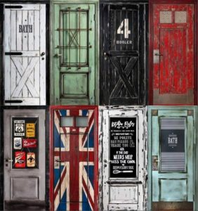 декорирование двери своими руками, фото (11)