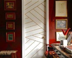 декорирование двери своими руками, фото (4)
