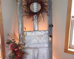 декорирование двери своими руками, фото (8)