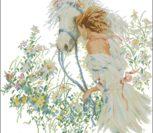 Девушка и белая лошадь