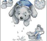 Bear Laundry Birth Sampler BOY