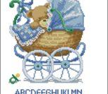 Метрика малыш в коляске (мальчик)