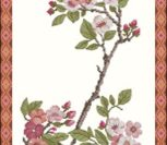 Board with cherry flowers