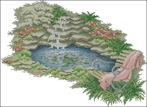 Ландшафтный эскиз водоема