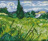 Пшеничное поле с кипарисом
