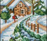 Зима, пейзаж вертикальный