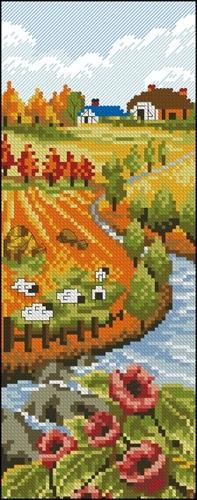 Осень, пейзаж вертикальный