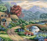 Дом в горах у реки
