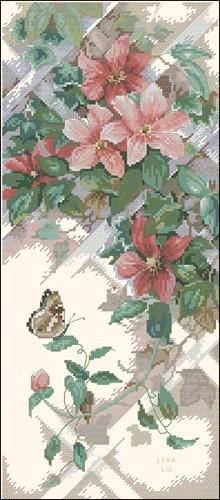 Бабочка и клематис