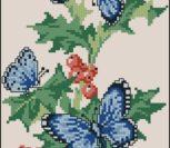 VK Butterflies on a Berry Branch