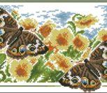 Бабочки и подсолнухи