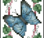 Butterfly and Bluebells Bookmark