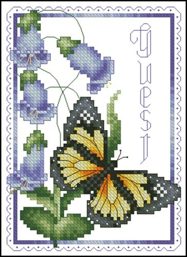 Butterfly And Bluebells Towel