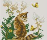 Котик и бабочки