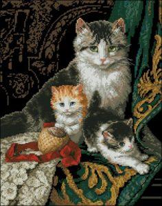 Семейный портрет кошки