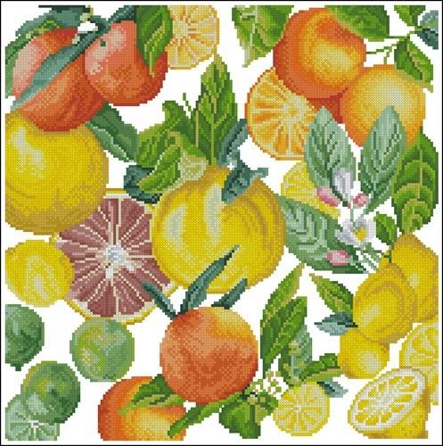 Lemon, Limes & More Pillow