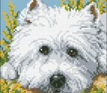 Westie Face Cushion Front