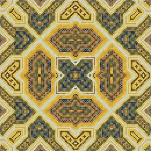 Подушка с геометр узором (коричневая)