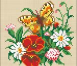 Butterfly and Flowers Cushion