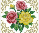 Простенькие и красивые розы для подушки