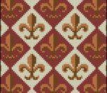 Королевские лилии вышивка старинные