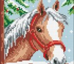 Horse in the Snow Cushion