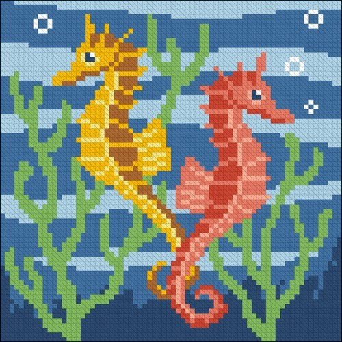 Sea Horses Pillow
