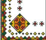 Уголок для салфетки с народным узором
