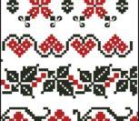 Украинский орнамент схема вышивки