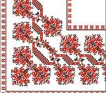 Красивый орнамент для вышивки скатерти (уголок)